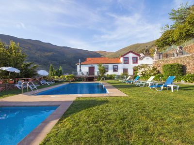 Photo for Luxury secluded villa, splendid views, pool, play area, games, cinema, big group