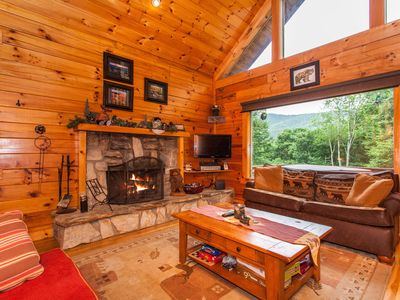 Photo for 3BR Copper Top Cabin on 4 Acres w/ Game Room & Hot Tub—Near Cataloochee