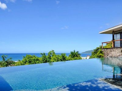 Photo for Luxury Hilltop home w/ amazing ocean view, walking distance to beach & Breakfast Prep Incl