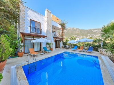 Photo for Villa Sovalye: 3 double bedrooms, 3 bathrooms, large roof terrace & private pool