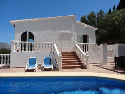 Photo for Villa on Monte Pedreguer, sleeps 4 to 6 ,Private pool, air con, wifi, clean incl