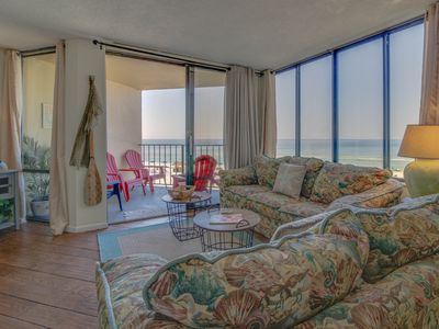 Photo for Gulf-front home w/ beach access, shared pool, & views - snowbirds welcome!