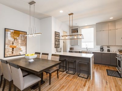 Photo for Upscale 3BR/3.5BA Townhouse - Rooftop Deck & Skyline View, Blocks to Downtown