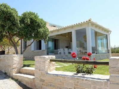 Photo for Exclusive vacation villa with private pool, panoramic view of sea & mountains