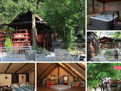 Photo for Wooden cottage with with outdoor Hydromassage Pool, located near Opatija, Rijeka