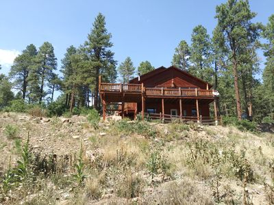 Photo for This is a Big comfortable cabin in the forest and within 1 hr to ski resorts