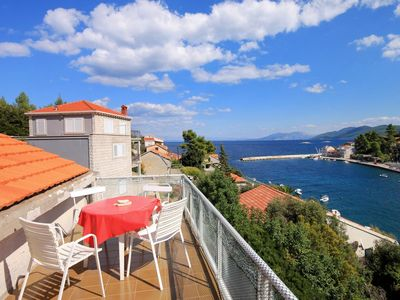 Photo for Two bedroom apartment with terrace and sea view Prigradica, Korčula (A-193-b)