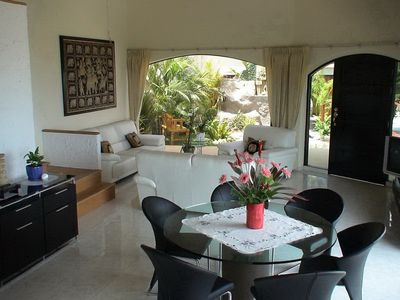 Photo for Seaview VILLA MAYA 4/5 people infinity pool and outside jacuzzi access