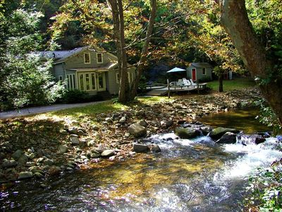 Photo for Waterfront Retreat on the Piney River.  Relaxing Blue Ridge Mountain
