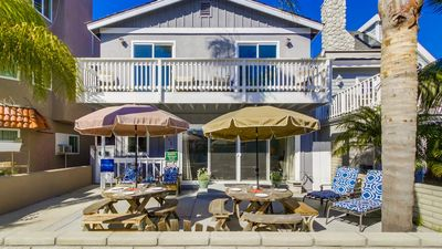 4 bedroom, 2 bath on the sunny side of Brighton Court in South Mission Beach