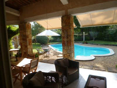 Photo for Villa In Lorgues, sleeps 6, pool, 1km from town centre, private & quite.