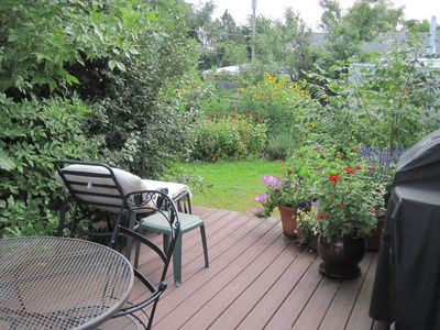 Deck and gardens