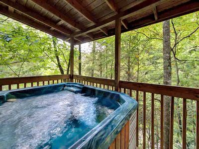 Luxuriate in the private hot tub - Drained, sanitized, and refilled for your arrival, the hot tub on the back deck is sure to be a favorite spot to savor the fresh mountain breeze while listening to warblers during the day and whip-poor-wills at night.