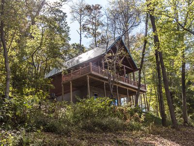 Photo for 95 acres - Luxury Hocking Hills Cabin - Prime Location - Hot Tub - Game Room +