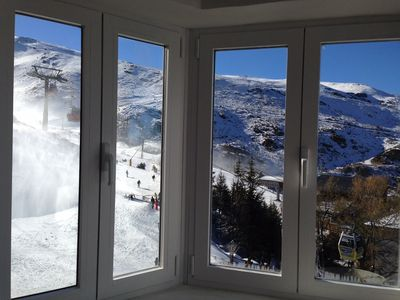 Photo for Modern Sunny Apart. at the foot of the slopes! Less than 100m from Main Lift