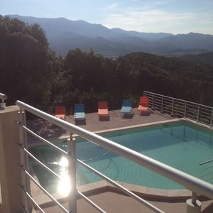 Photo for NEW VILLA WITH SWIMMING POOL NEAR ST FLORENT PANORAMIC VIEW MOUNTAIN SEA VILLAGES