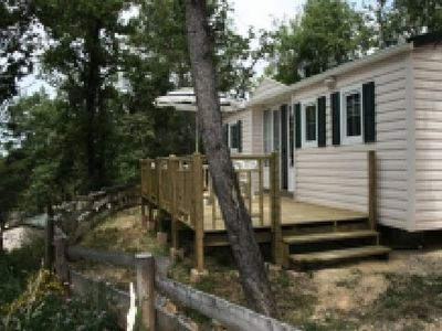 Photo for Camping Le Clos de Barbey *** - Mobile home Texas 4 Rooms 6/8 People