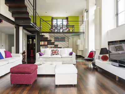 Photo for MILANO DESIGN LOFT WAREHOUSE, with outdoor patio, 4 rooms, accommodates 7 people