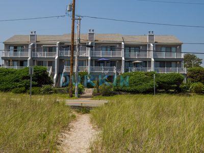 Condo with ocean views across the street from the beach