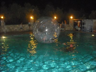 Most nights there is free entertainment such as this  ball party