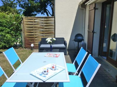 Photo for House, garden, 700 m Beach LA BAULE residence with pool in summer,