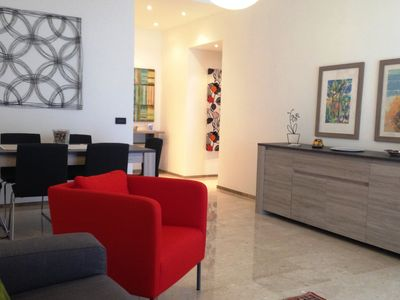 Photo for Exclusive apartment of 120 sqm, 4-6 sleeps, private parking