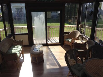 WINDOWS OPEN IN THE SUNROOM! LEADS TO WRAP AROUND DECK