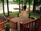 Newly added (2015) paver patio and sidewalk to dock!
