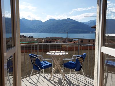 Photo for Stonning view over old town to Lake Maggiore