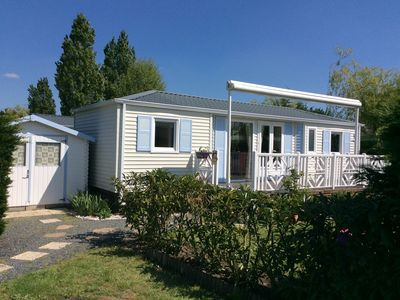 Photo for Super Mobil-home 40 m2 on 5-star campsite Deauville