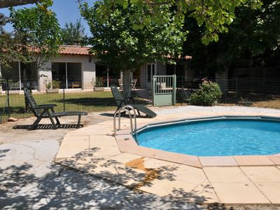 Photo for La Campagne, 96 M² house on 1000 m² land with private pool, air conditioning