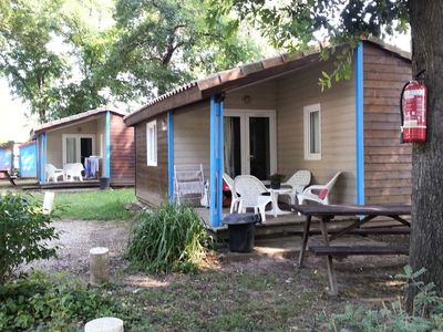 Photo for Camping on the Dordogne *** Chalets - Chalet Bois 3 Rooms 4 People