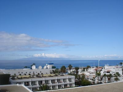 La Gomera in the Distance from the Balcony
