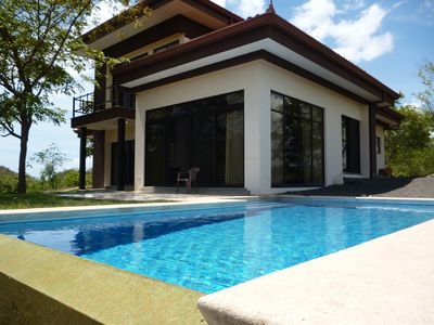 Photo for Modern, secluded, spacious villa close to beach