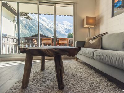Photo for L'ENVERS - View Mont Blanc, Wifi, quiet, everything on foot, parking, just renovated