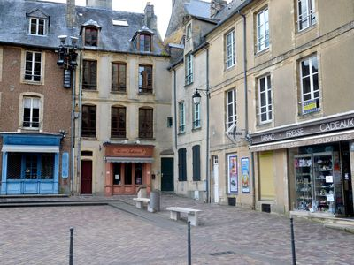 Photo for Simple but well-kept apartment opposite the cathedral of Bayeux