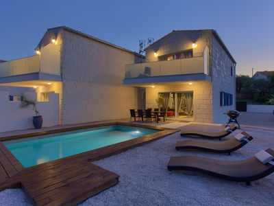 Photo for Beautiful and luxury holiday home  with private pool in Vrh, Island Krk, Croatia for 6 persons