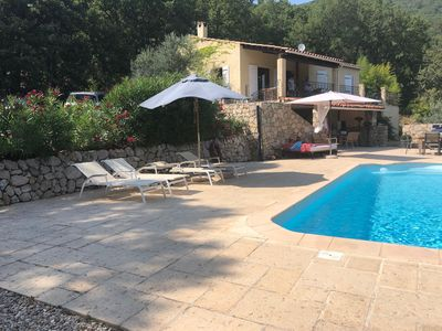 Photo for Beautiful Provence villa with stunning view, private pool, near Verdon.
