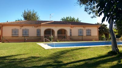 Photo for TOURIST ACCOMMODATION VILLA. 14 SEATS. 5 BEDROOMS. POOL AND GARDEN,