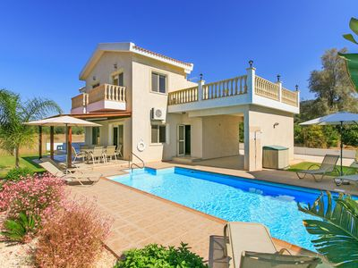 Photo for Villa Clementina: Large Private Pool, Walk to Beach, Sea Views, A/C, WiFi, Eco-Friendly