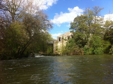 The Watermill on its own Island