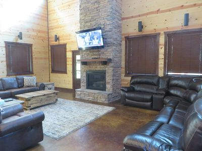 Photo for MULTI-FAMILY LUXURY CABIN~6 MASTERS~3 STORIES~ROOM FOR EVERYONE! SLEEPS 22