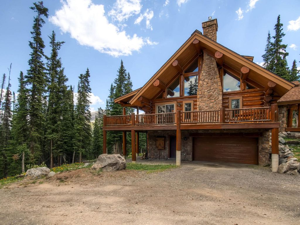 Luxury Colorado Log Cabin In Breckenridge, Hawku0027s Nest, Mountain View, Hot  Tub