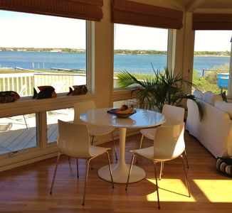 Dinette in main foyer with drop-dead gorgeous views of the bay
