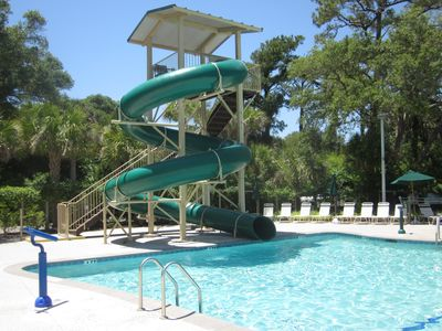 West Beach Pool Has A Water Slide And Cantina For Dining