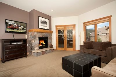Relax in the luxurious and spacious living area