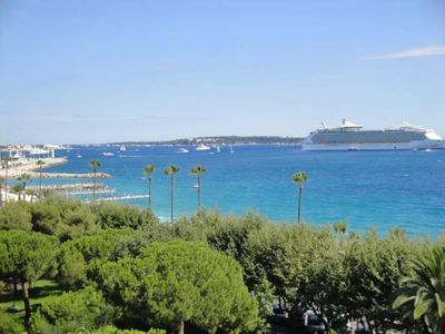 "Photo for Cannes, superb sea view facing the ""beaches du Midi"", near the port and the center"
