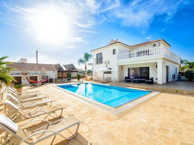 Photo for Luxurious Cyprus Villa | FREE unlimited WI-FI | Spectacular Views | Large Pool