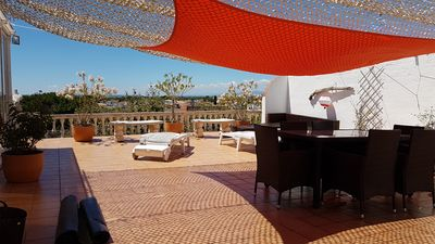 Photo for Top floor apartment terraces 135m2, 10 min walk to beach and downtown