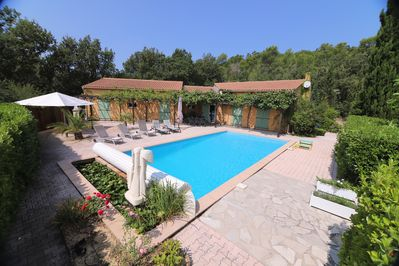 Holiday Villa, 195m2, 4 ch. 8 people, facing south, 10m swimming pool,  enclosed property - Forcalqueiret